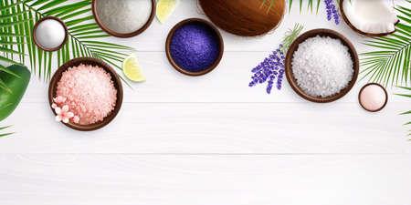 Spa Salt Realistic Composition