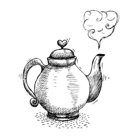 Hand Drawn Teapot