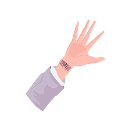 Human Hand Futuristic Composition