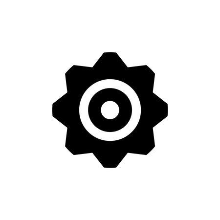 Flat Cogwheel Icon