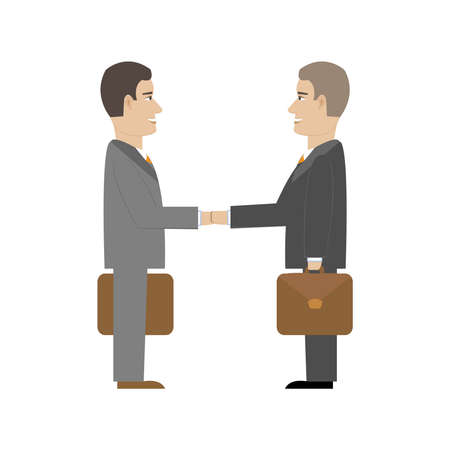 Office Men Flat Illustration