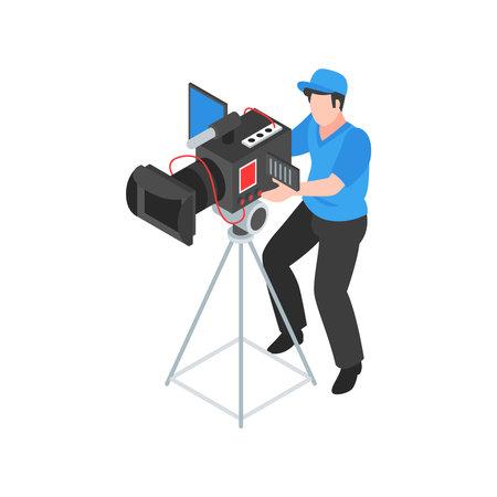 Film Camera Man Composition