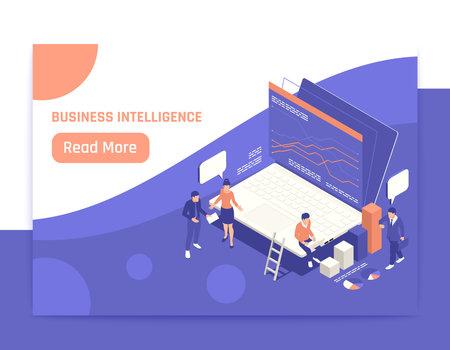 Business Intelligence Isometric Banner