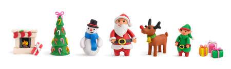 Illustration Christmas Realistic Set Vektorgrafik