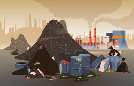 Polluted City Illustration