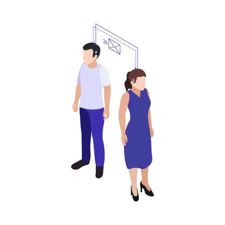 Neural Implants Icon Ilustración de vector