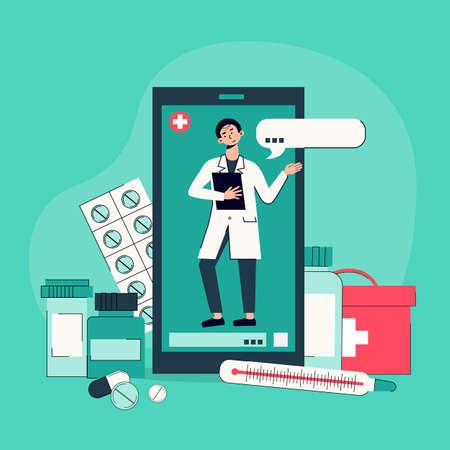 Online Medicine Background Composition
