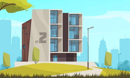 Modern Housing Evolution Image illustration