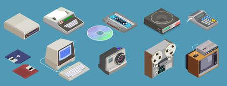 Retro Multimedia Devices Set