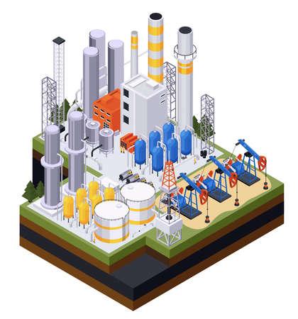Oil Petroleum Factory Composition