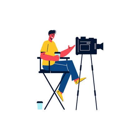 Cameraman Flat Icon