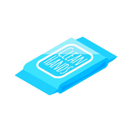 Wipes Package Icon illustration