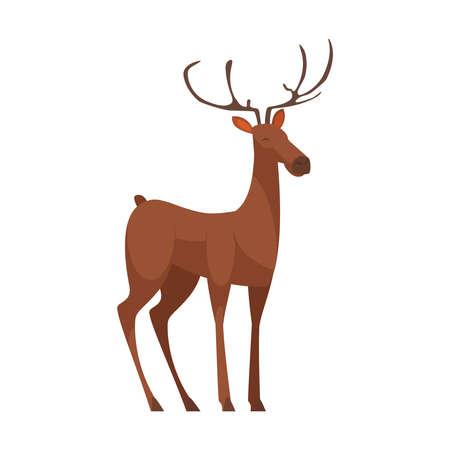 Deer Cartoon Icon Vetores
