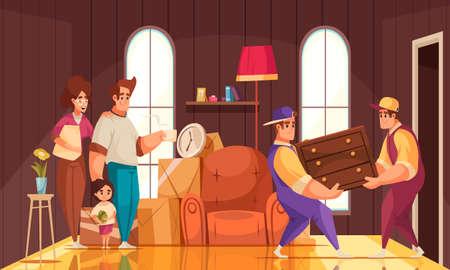 Moving New House Interior illustration
