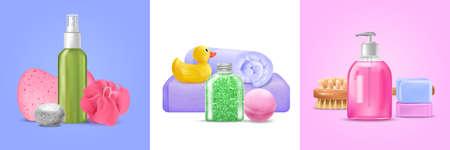 Bath Wash Design Concept Vector Illustration