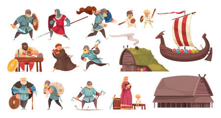 Viking Cartoon Set
