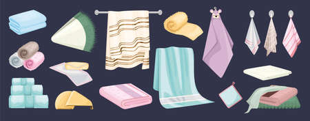 Towel Color Icons Collection