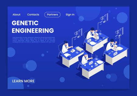 Genetic Engineering Page Design Иллюстрация