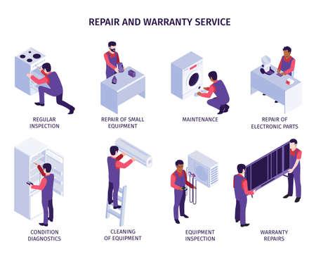 Repair Service Composition Set Иллюстрация