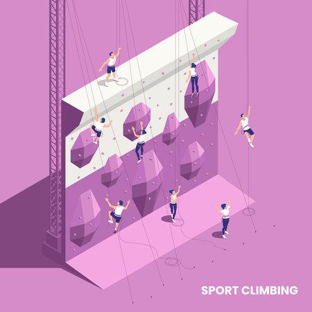 Climbing Sport Isometric Element