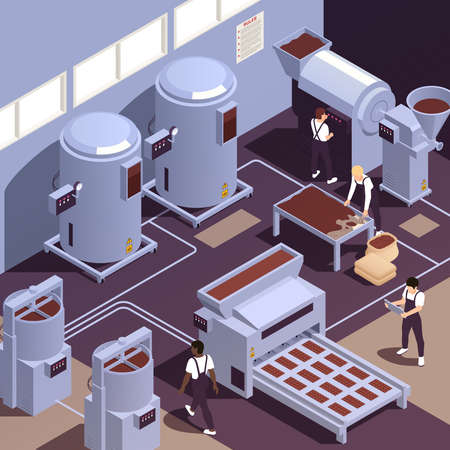 Chocolate Production Facility Isometric
