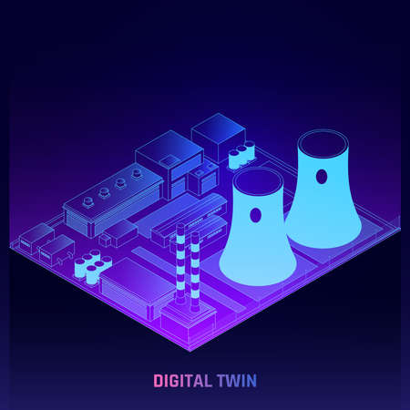 Digital Twins Isometric Poster