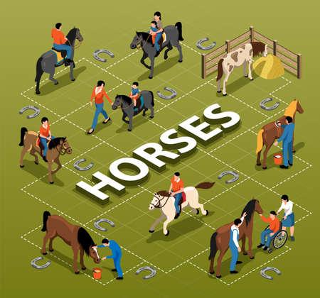Horses Isometric Flowchart