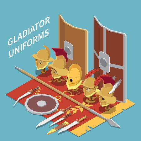 Gladiator Uniforms Isometric Background