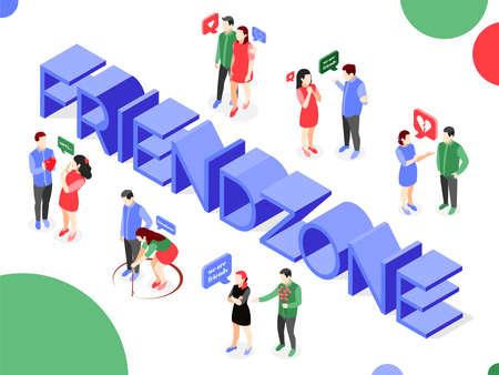 Friend Zone Text Composition Иллюстрация