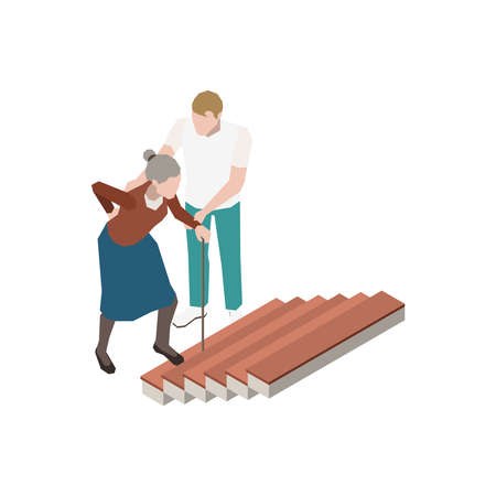 Nursing Home Isometric Icon