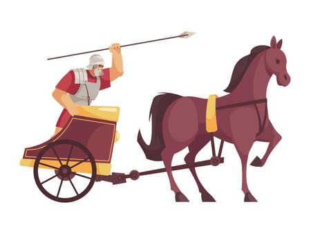 Cartoon Gladiator Icon