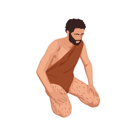 Caveman Isometric Icon