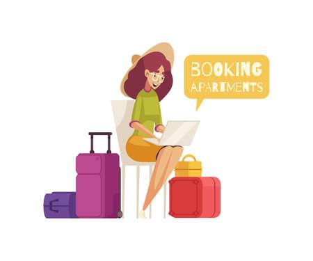 Travel Cartoon Composition