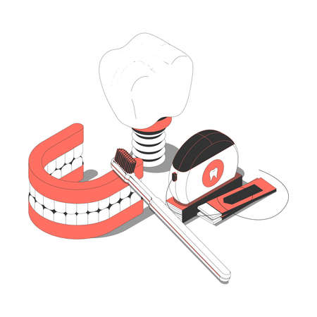 Dentistry Isometric Composition