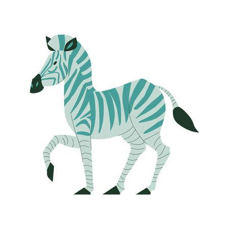 Flat Zebra Illustration Иллюстрация