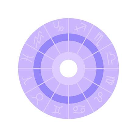 Astrology Chart Illustration Иллюстрация