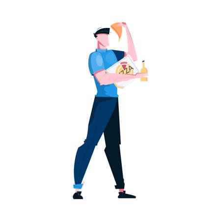 Pizza Flat Illustration Иллюстрация