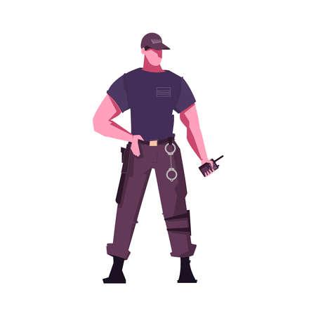 Security Guard Icon Иллюстрация