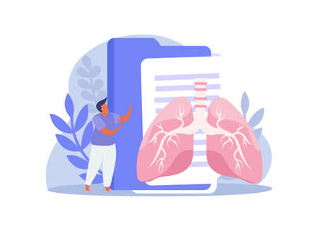 Lungs And Folders Composition Иллюстрация
