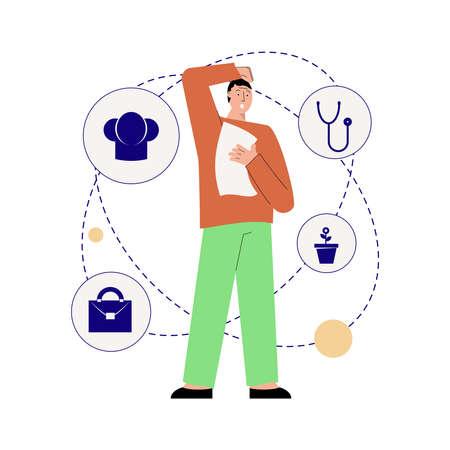 Choosing Right Job Composition Иллюстрация