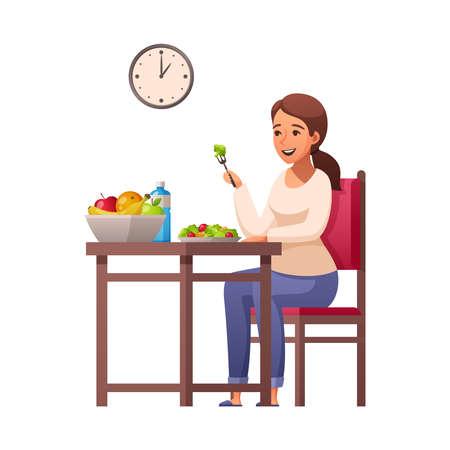 Healthy Breakfast Lifestyle Composition Иллюстрация