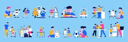 Children Programming Robots Color Set