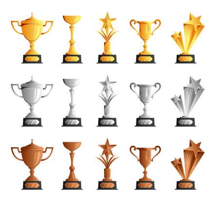 Cups Medals Trophies Set