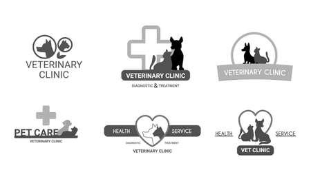 Veterinary Clinic Logo Set