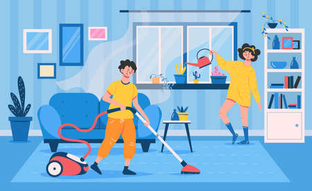 Cleaning Family Flat