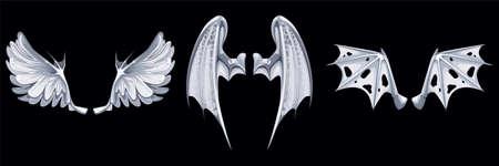 Mythical Fantasy Fleaves Composition Иллюстрация