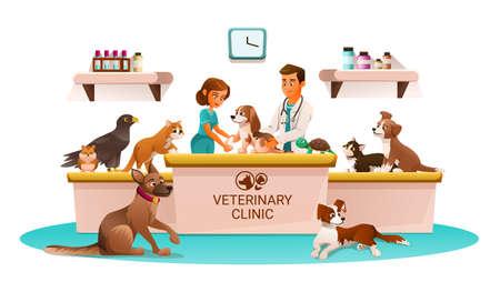 Veterinary Clinic Cartoon Advertisement