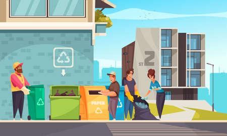 Garbage Cartoon Illustration Иллюстрация