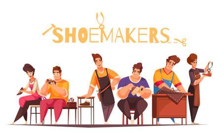 Shoemakers Cartoon Illustration
