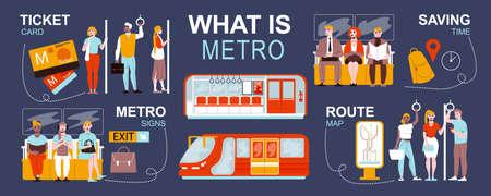 Metro Flat Inforgraphics Иллюстрация